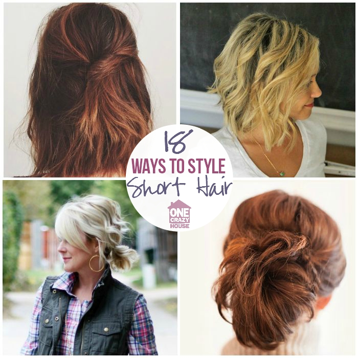 Elegant 18 easy styles for short hair Good Ways To Style Short Hair Choices