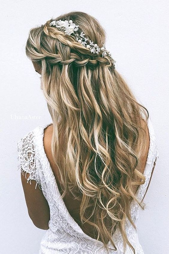Elegant 18 elegant hairstyles for prom 2021 Romantic Prom Hairstyle For Long Hair With Braided Flower Inspirations