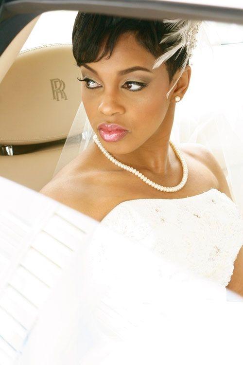 Elegant 20 bridal short hair ideas short hairstyles 2014 most African American Short Wedding Hairstyles Ideas