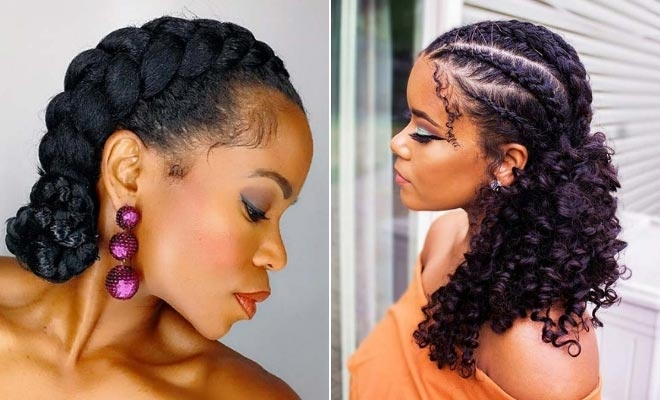 Elegant 21 easy ways to wear natural hair braids stayglam Braiding Style With Natural Hair Ideas
