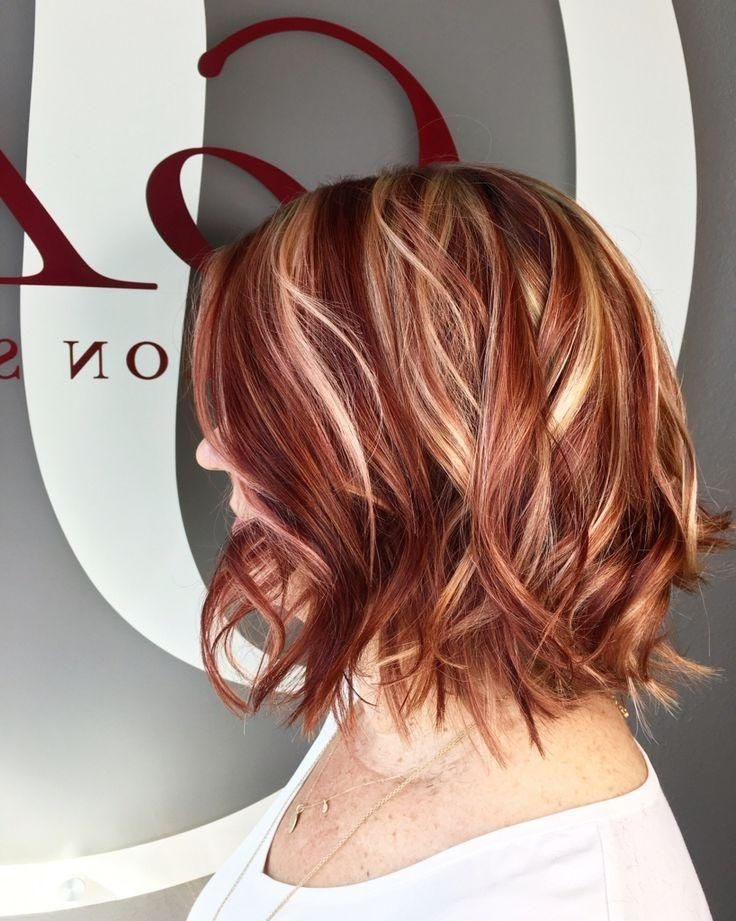Elegant 24 coolest short hairstyles with highlights haircuts Short Brown Hair With Blonde And Red Highlights Choices