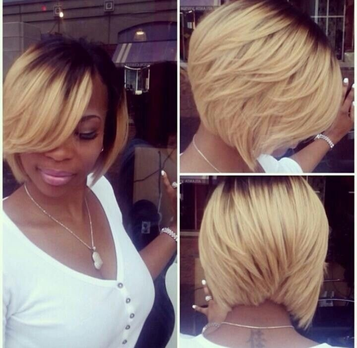 Elegant 25 cool stylish bob hairstyles for black women hairstyles Wedge Haircut For African American Hair Ideas