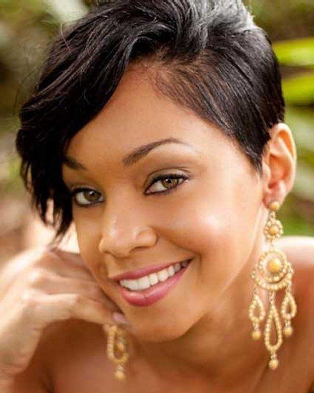 Elegant 28 trendy black women hairstyles for short hair popular Short Hairstyles For African American Round Faces Ideas