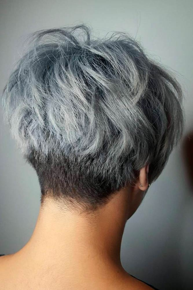 Elegant 33 short grey hair cuts and styles lovehairstyles Short Wavy Grey Hair Styles Inspirations
