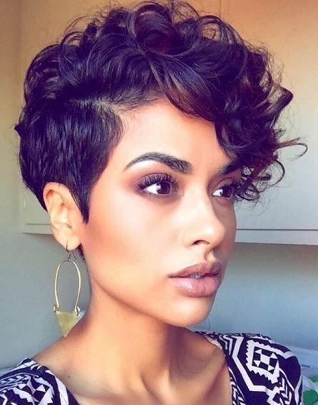 Elegant 40 hottest short wavy curly pixie haircuts 2021 pixie Haircut Styles For Curly Short Hair Choices