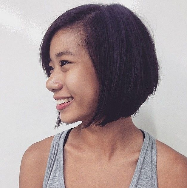 Elegant 40 most flattering bob hairstyles for round faces 2020 Short Hair For Round Face Asian Ideas