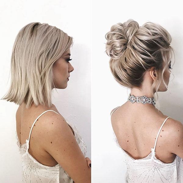 Elegant 40 wedding hairstyles for short hair short haircut Style Short Hair For Wedding Inspirations