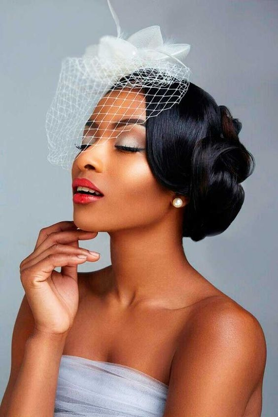 Elegant 43 black wedding hairstyles for black women in 2020 black Vintage Wedding African American Hair