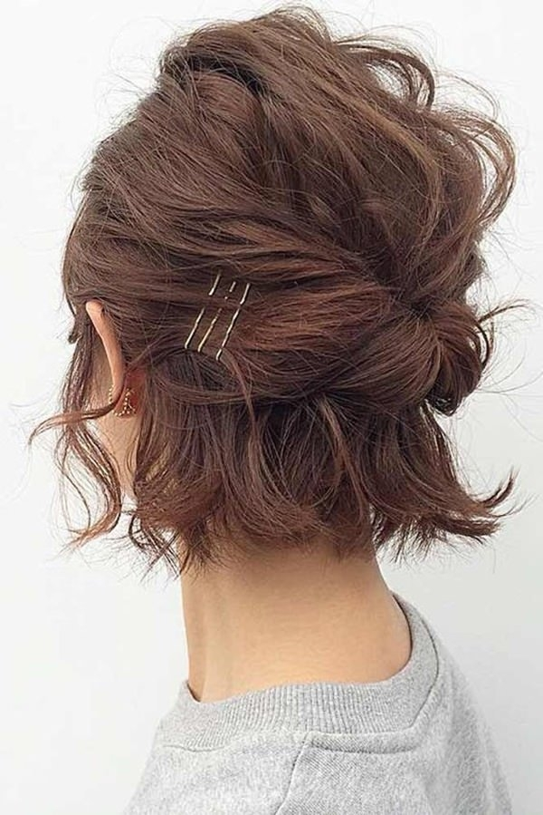 Elegant 48 sexy and sassy updos for short hair Easy Updos For Short Hair Casual Choices