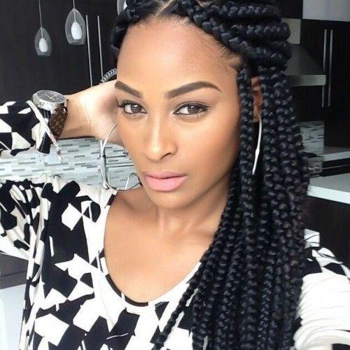 Elegant 5 stylish braided big box hairstyles for black women4 African American Big Braids Ideas