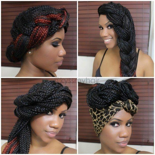 Elegant 65 box braids hairstyles for black women Hair Styles Of Braids Inspirations