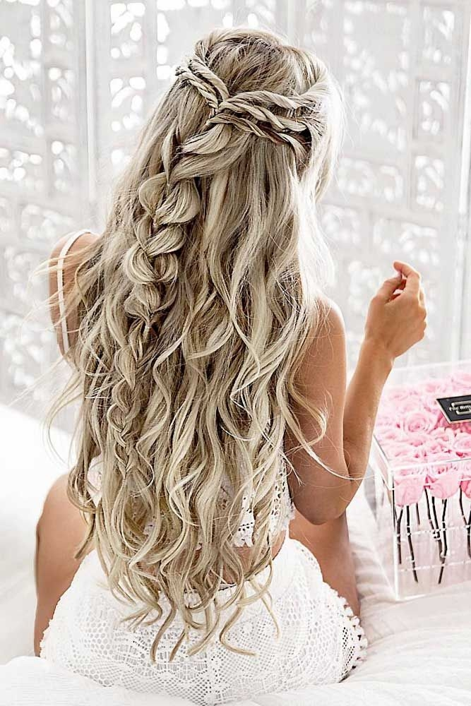 Elegant 68 stunning prom hairstyles for long hair for 2020 pretty Wedding Prom Hairstyle For Long Hair. Braided Updo Ideas