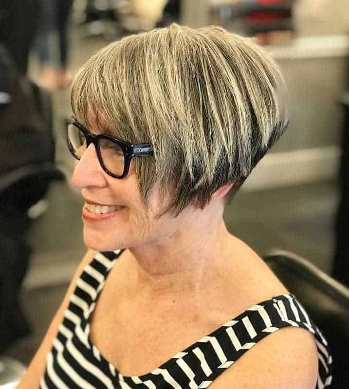 Elegant 7 alluring wedge haircuts for women over 60 hairstylecamp Short Wedge Haircuts Ideas
