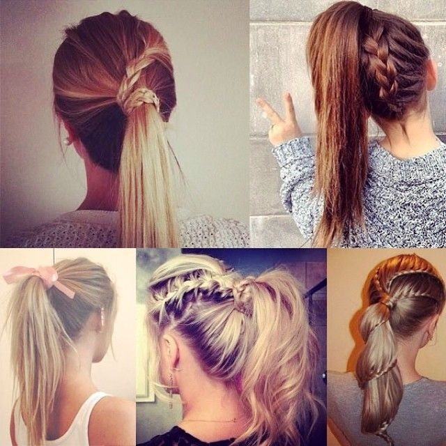 Elegant 7 easy and chic ponytail hairstyle for girls back to school Cute Ponytails For Short Hair For School Inspirations