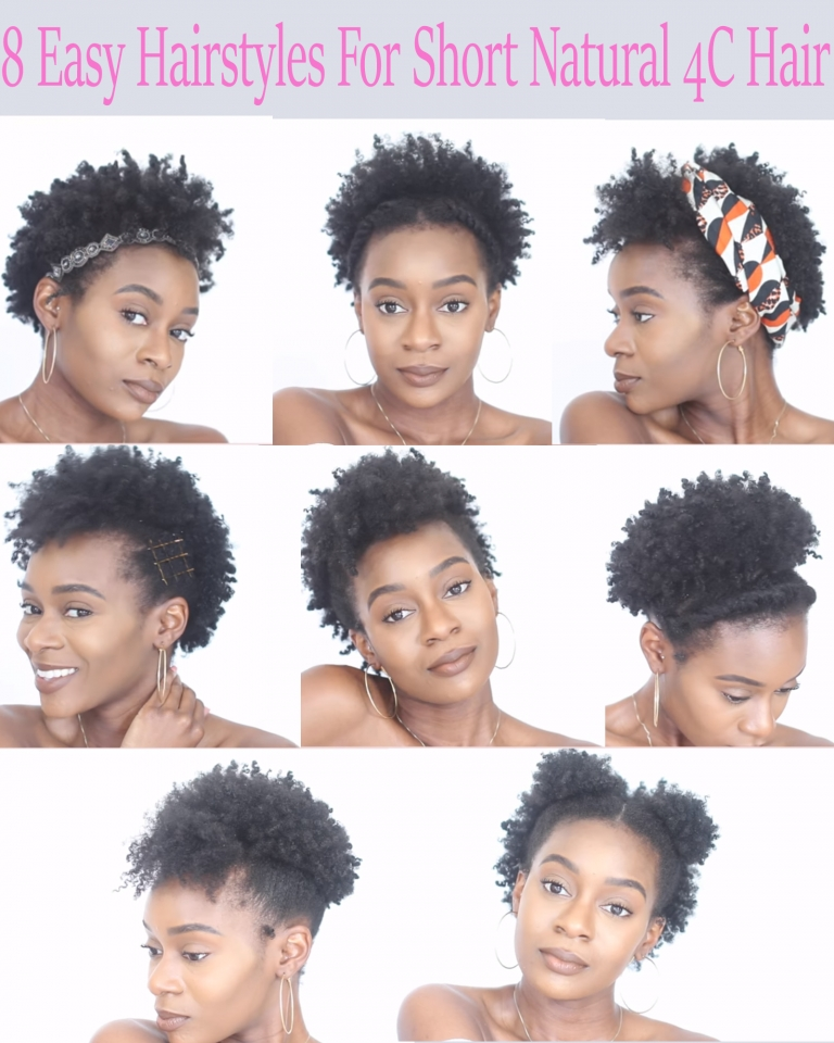 Elegant 8 easy protective hairstyles for short natural 4c hair that Protective Hairstyles For Short Natural Hair Pinterest Inspirations