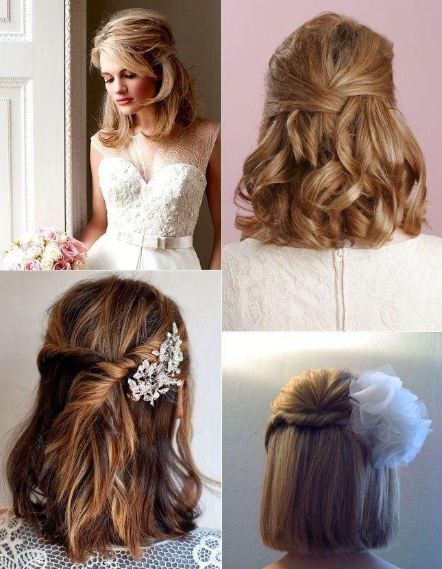 Elegant 9 short wedding hairstyles for brides with short hair Wedding Hairstyles For Bridesmaids With Short Hair Inspirations