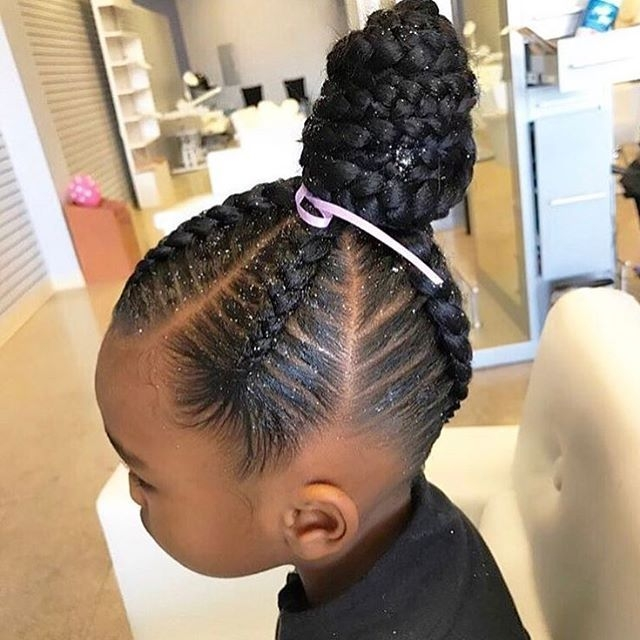 Elegant african american braids with a part for girls best 25 African American Kids Braid Styles Designs