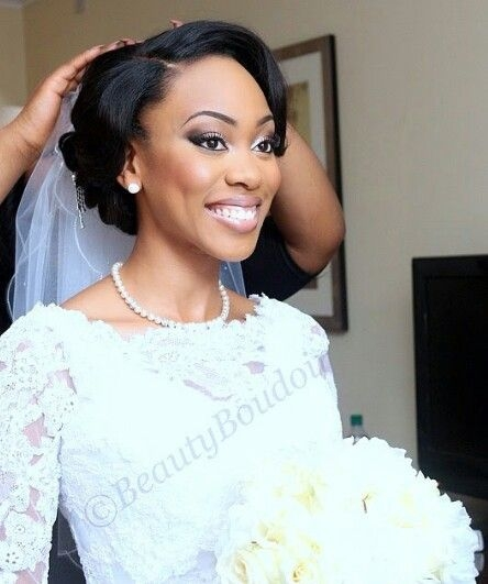 Elegant beautiful wedding updo for african american bride african African American Wedding Hair Styles Designs