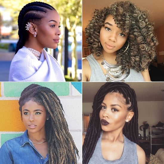 Elegant black braided hairstyles with extensions popsugar beauty Braided Hair Extensions Styles Inspirations