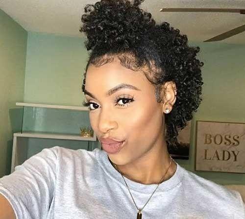 Elegant black girl short hair natural short hair ideas for cute Cute Styles For Short Natural Hair Inspirations