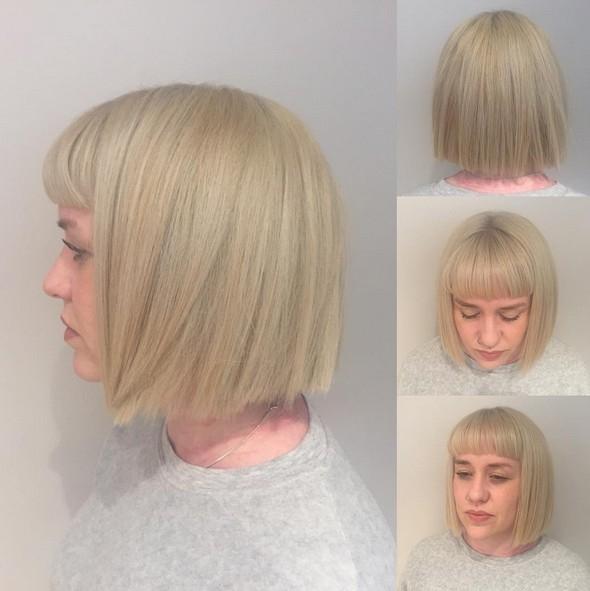 Elegant blunt haircut with bangs short hairstyles for thick hair Short Blunt Haircuts With Bangs Choices