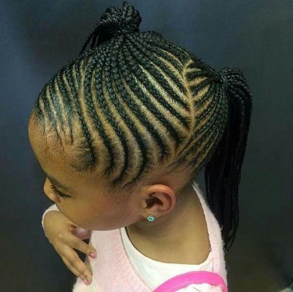Elegant braids for kids black girls braided hairstyle ideas in Children Hair Braided Styles Choices