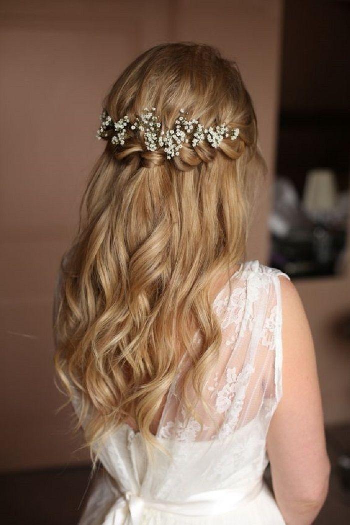 Elegant braids half up half down wedding hairstyle hair styles Bridal Hairstyles Half Up Half Down With Braids Inspirations