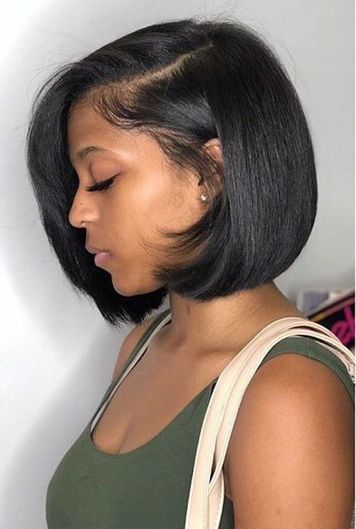 Elegant brazilian remy human hair lace front wig short straight bob Short Hair Styles Wigs Inspirations