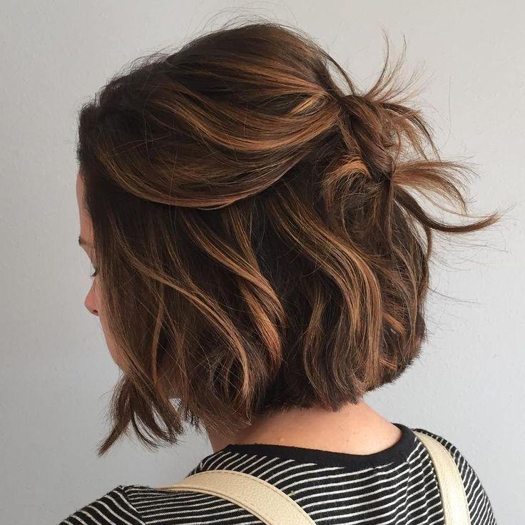 Elegant caramelbalayageforbrownbob httpniffler elmtumblr Short Brown Hair Ideas Tumblr Choices