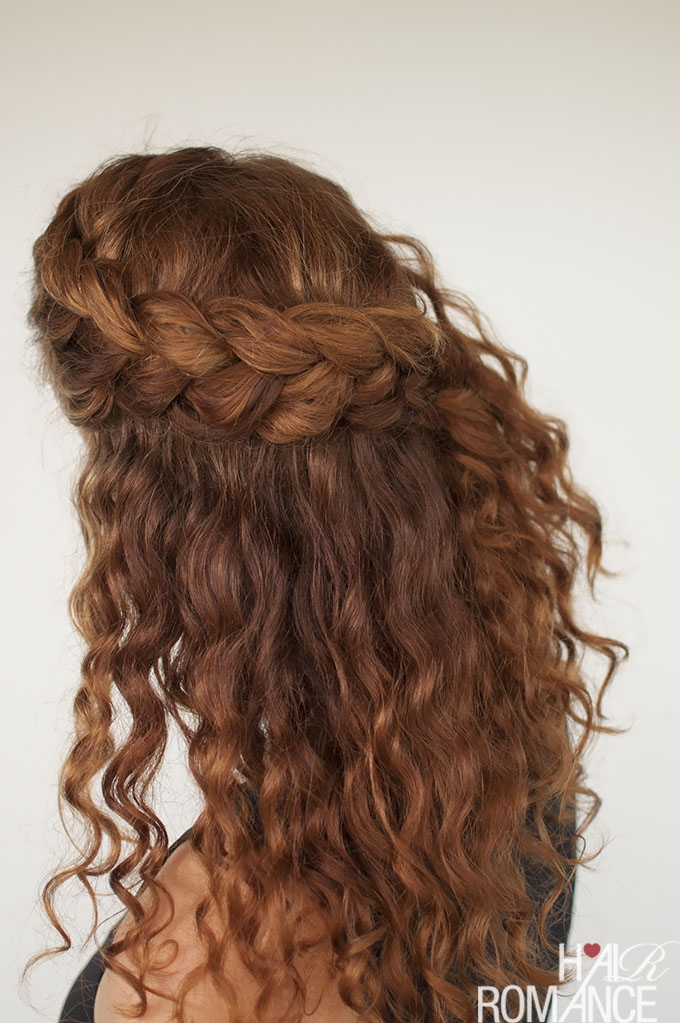 Elegant curly hair tutorial the half up braid hairstyle hair romance Braided Hairstyles For Thick Curly Hair Choices