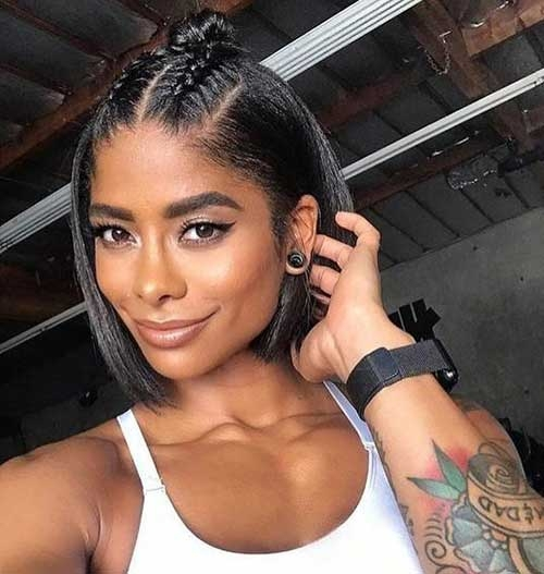 Elegant easy short hairstyles for black women 2019 short haircut Quick Updos For Short Black Hair Ideas