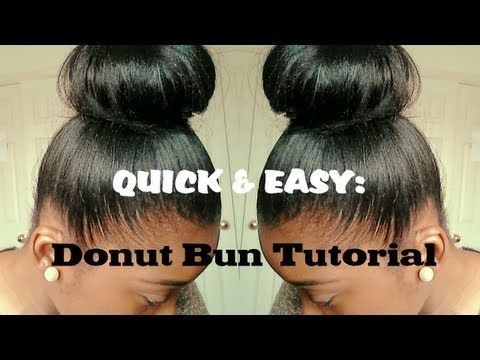 Elegant hair tutorial high bun for relaxed hair quick and easy Protective Styles For Short Relaxed Hair Pinterest Ideas