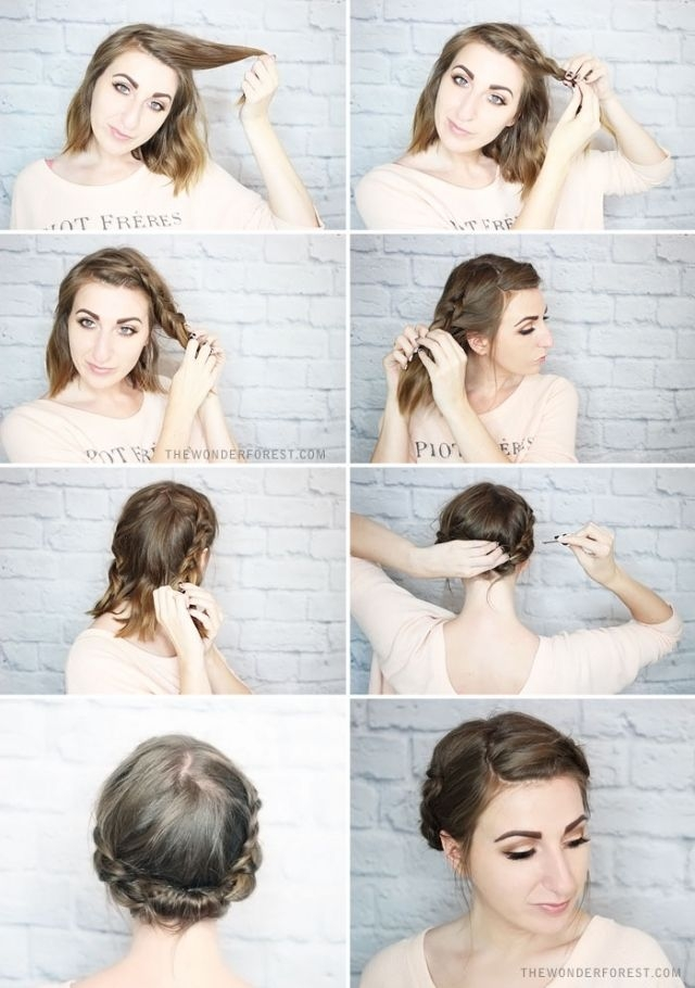 Elegant hairstyles for short hair braided updo 640910 Styling Your Short Hair Inspirations