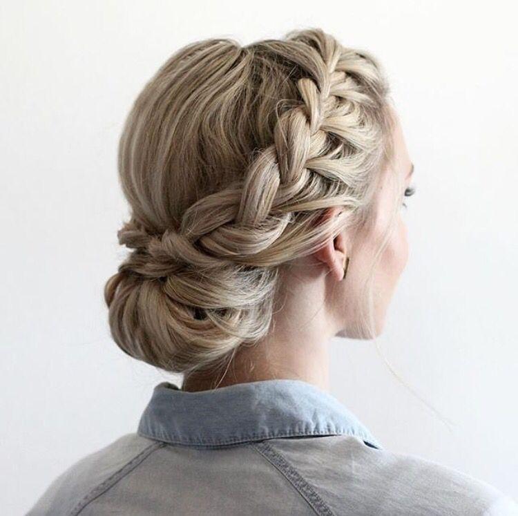Elegant half updo with dutch braids braided prom hair hair styles Dutch Braid Updo Long Hair Ideas