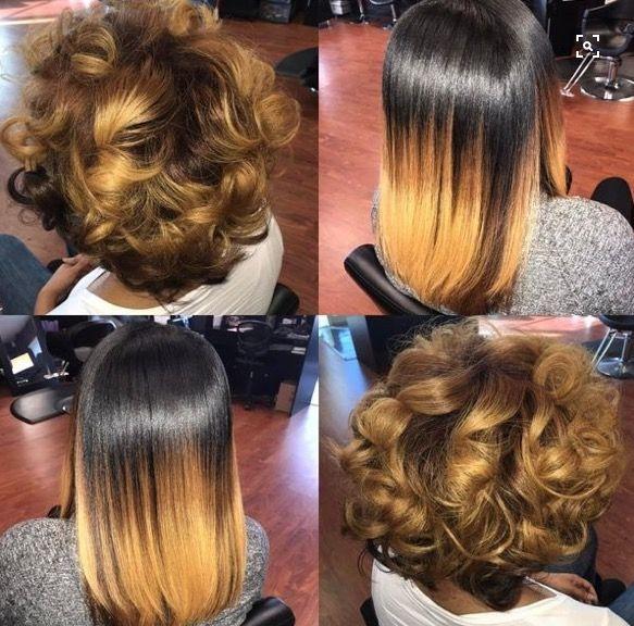 Elegant honey blonde silk press natural hair natural hair styles African American Honey Blonde Hairstyles