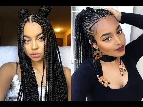 Elegant latest braided hairstyles get ideas of black braided Latest Braid Hair Style Ideas
