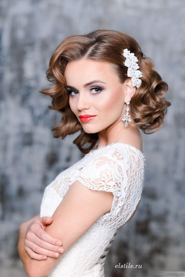 Elegant loose curls wedding hair belle the magazine loose curls Curly Wedding Hairstyles For Short Hair Choices
