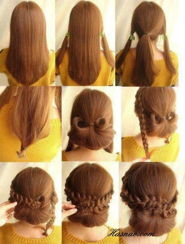 Elegant low braided bun updos tutorials popular haircuts Braid Updo Hairstyles Tutorial Ideas