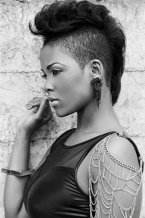 Elegant mohawk short hairstyles for black women Mohawk Haircuts For African American Women