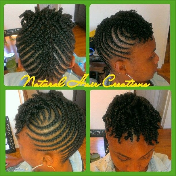 Elegant natural hair creations on instagram cornrow updo on short Natural Hair Braid Styles For Short Hair Choices
