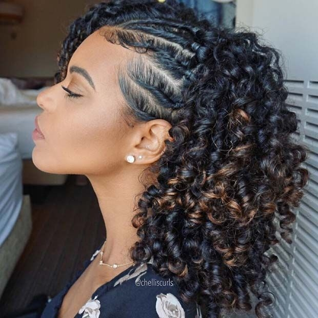 Elegant natural protective style for summer protective styles for African American Hairstyles For Long Hair Ideas