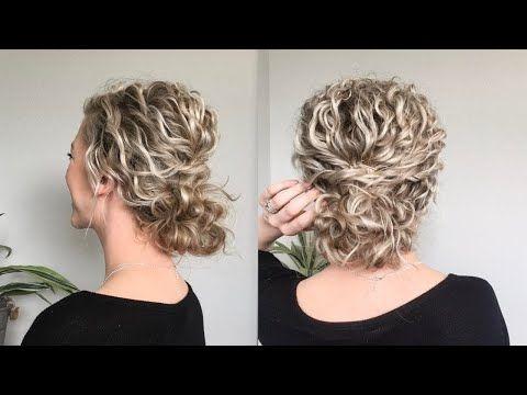 Elegant naturally wavycurly hair updo youtube naturally curly Short Curly Hair Updo Styles Ideas
