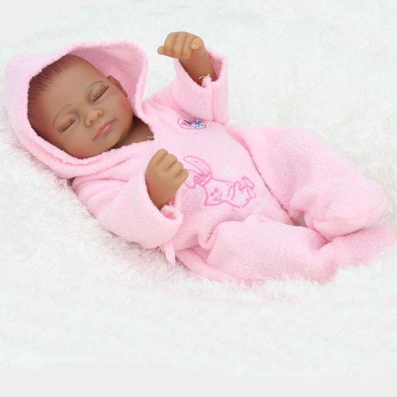 Elegant npkdoll 11 inch african american ba doll black girl full silicone body reborn ba dolls ethnic alive dolls African American Babies Girl Pics Designs