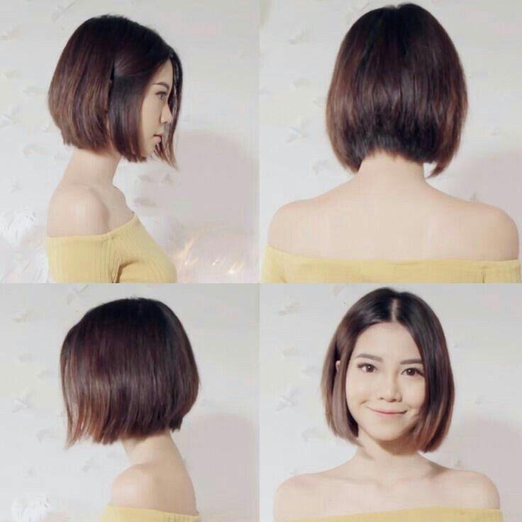 Elegant pin monica on frisur asian short hair korean short Short Hairstyle For Thick Asian Hair Inspirations