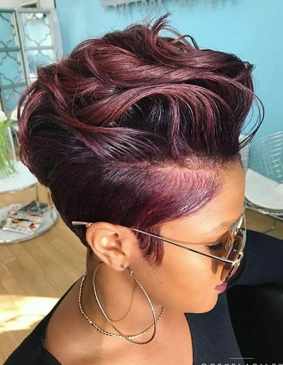 Elegant pin on black hair inspirations African American Short Hairstyles With Color