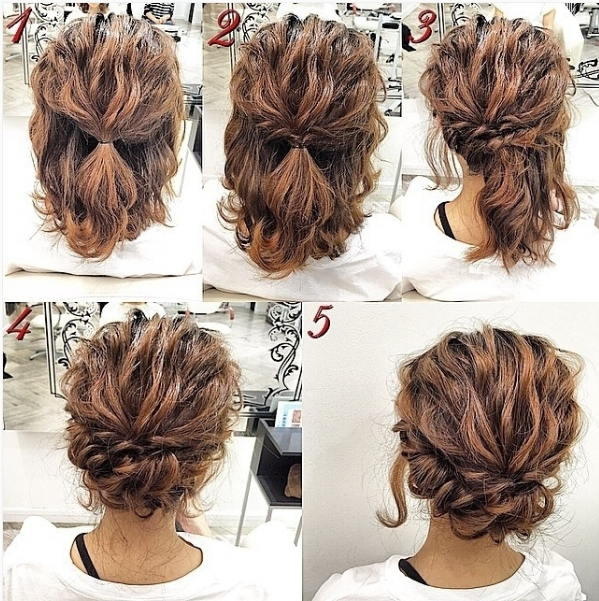 Elegant pin on coiffure Easy Updo Hairstyles For Short Length Hair Inspirations