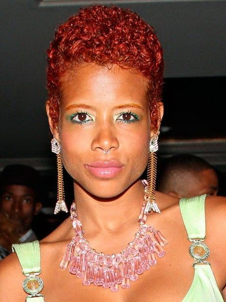 Elegant pin on hair and beauty African American Short Textured Hairstyles Ideas