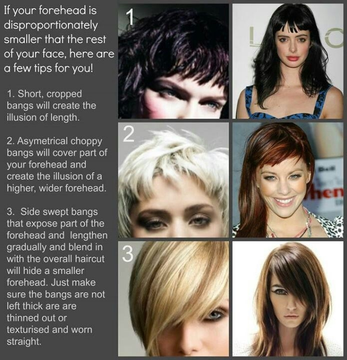 Elegant pin on hair Haircuts For Short Foreheads Ideas