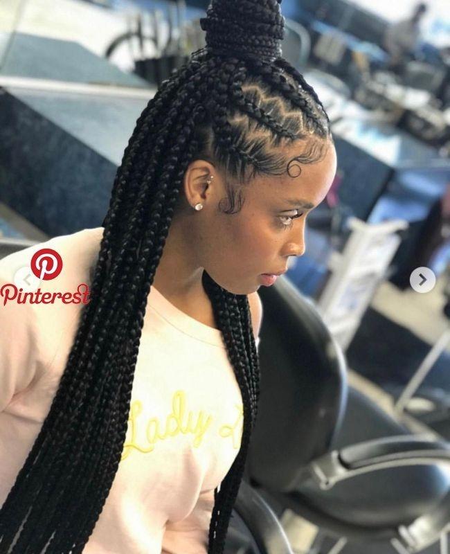 Elegant pin on hair Pinterest African American Braids
