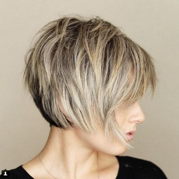 Elegant pin on hair Short Layered Haircuts With Bangs Ideas